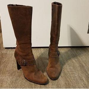 Circa Joan and David Cjbay Brown Leather Boots 10M